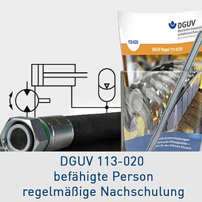 Hydraulik DGUV 113-020 Nachschulung