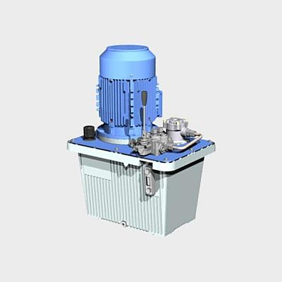 hydraulikaggregat mit handventil