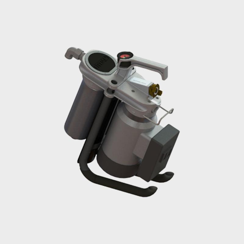 Filtrationsgerät für Hydrauliköle mit 15 Liter Pumpe