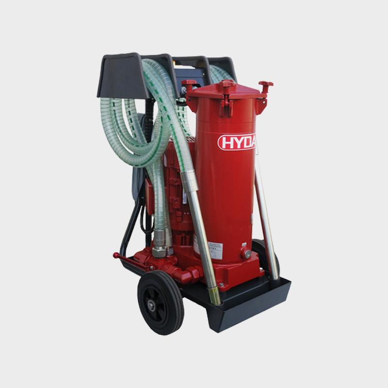 Filtrationsgerät für Hydrauliköle mit 40 Liter Pumpe