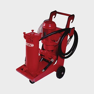 Filtrationsgerät für Hydrauliköle mit 100 Liter Pumpe