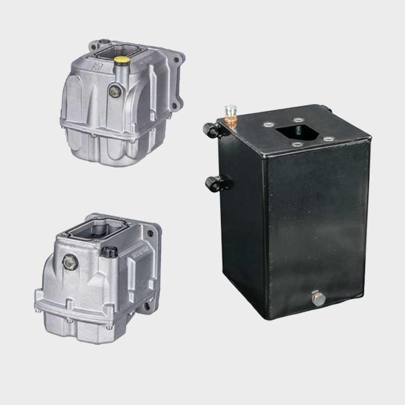 Tanks für Handpumpen in Stahl und Aluminium