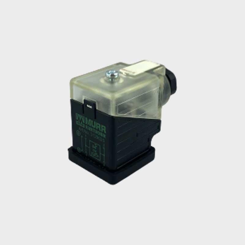 Leitungsdose 24VDC mit LED 2-Pol - varistor 1