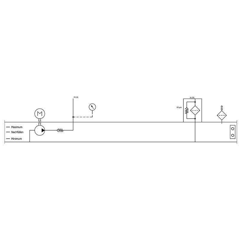 Hydraulikaggregat Druckeinheit V=13L 1