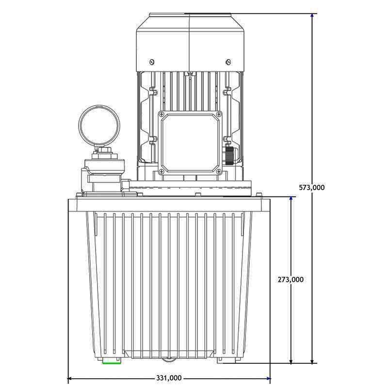 Hydraulikaggregat HA-DE-13-4 Seitenansicht A