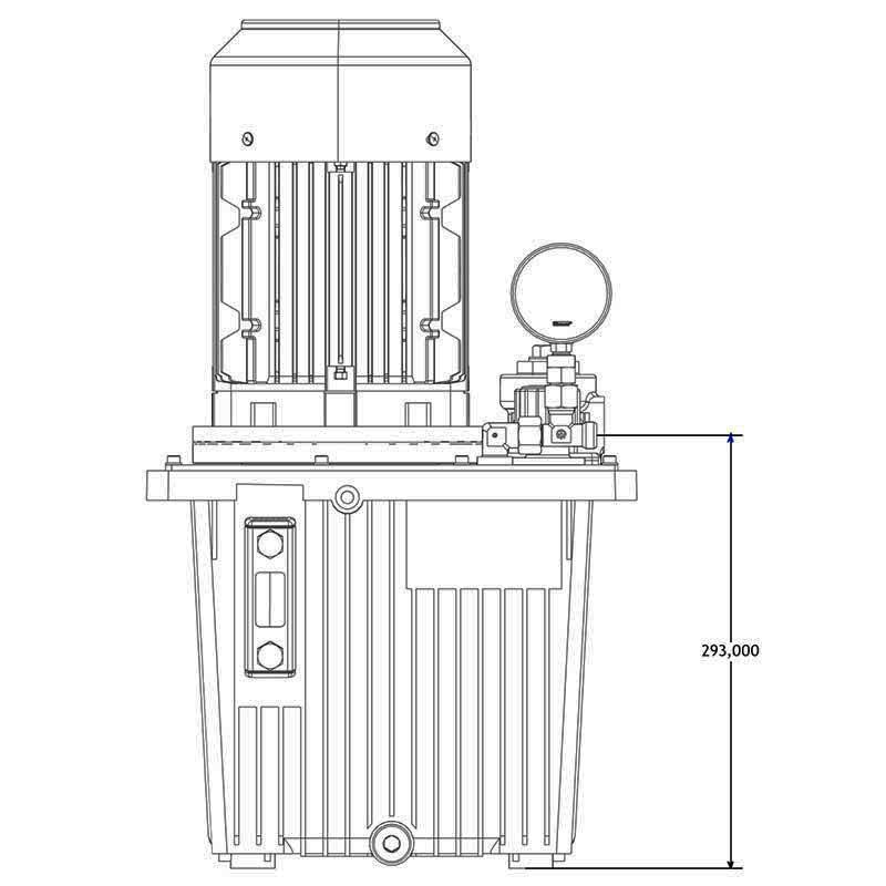 Hydraulikaggregat HA-DE-13-4 Seitenansicht C