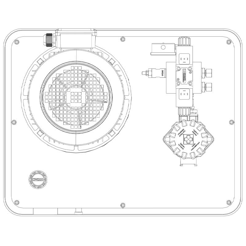Hydraulikaggregat HA-DEEV-70-15 Draufsicht