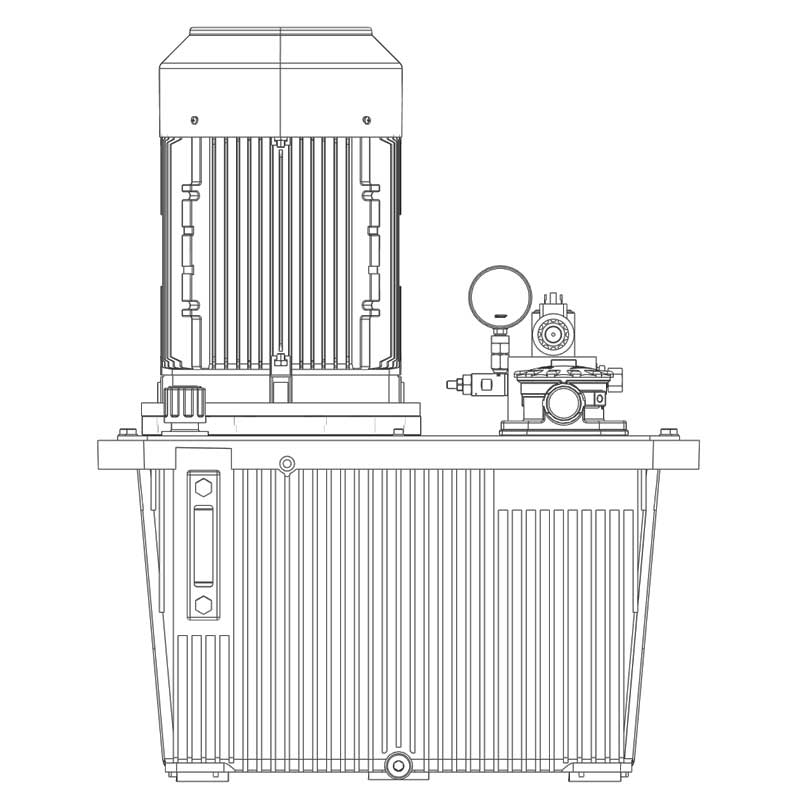 Hydraulikaggregat HA-DEEV-70-15 Seitenansicht C